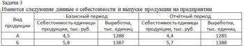 Имеются следующие данные о себестоимости и выпуске продукции на предприятии Вид продукции Базисный период Отчётный период Себестоимость единицы продукции, тыс.