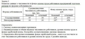 Имеются данные о численности и фонде оплаты труда работников предприятий торговли региона по формам собственности: Формы собственности Среднесписочная численнос